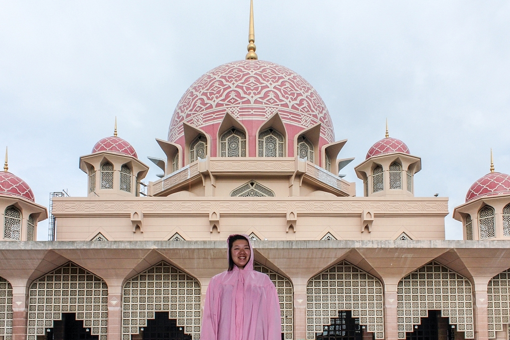 2009 outside the Pink Mosque, Kuala Lumpur, Malaysia
