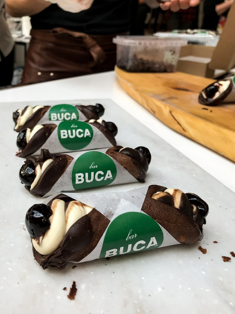 Cannoli di Sanguinaccio (made with chocolate and pig's blood) from Bar Buca