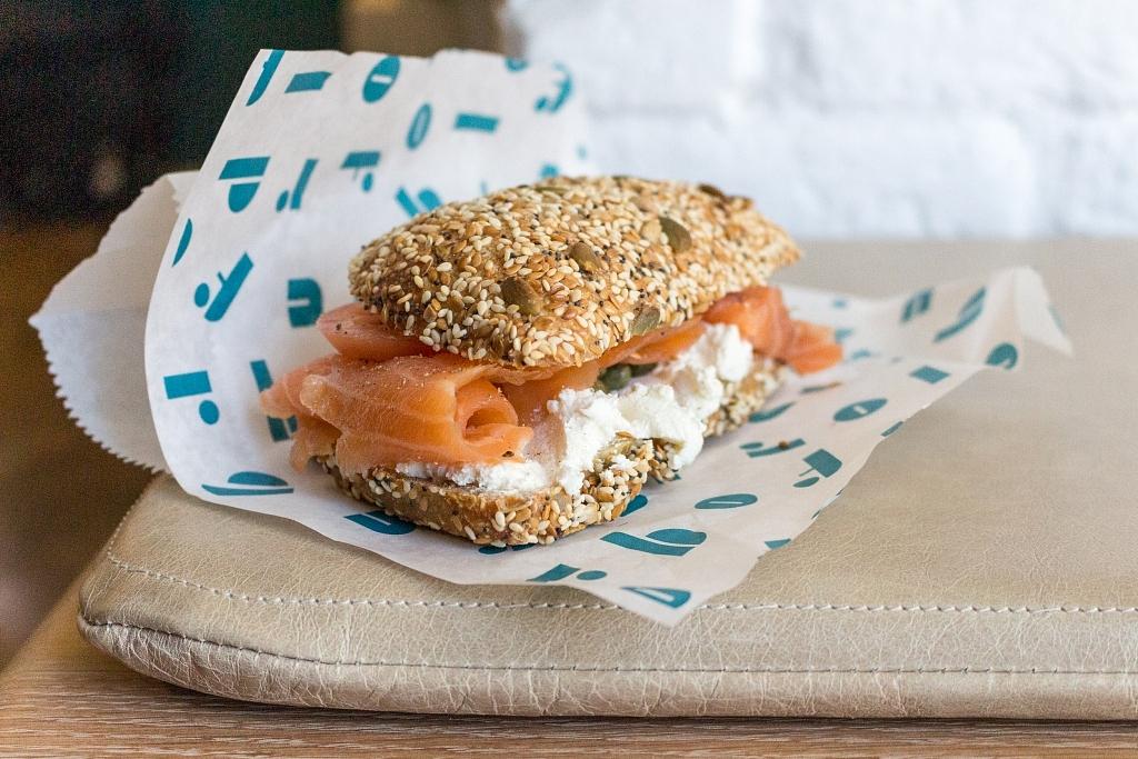 Broflour smoked salmon sandwich
