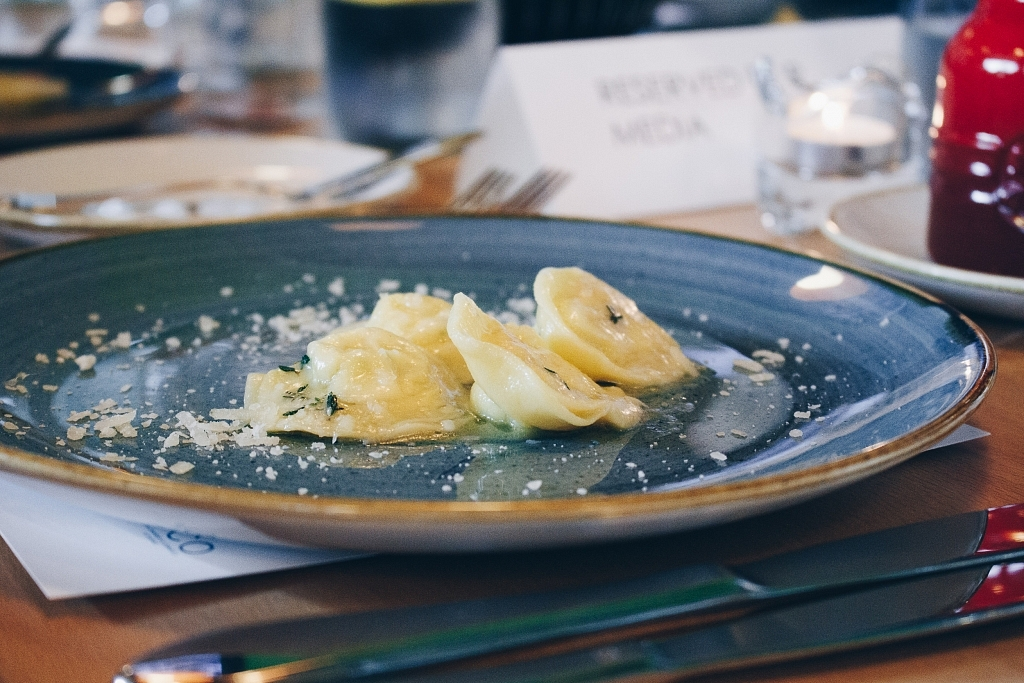 Cheese Tortelli with Nutmeg and Butter