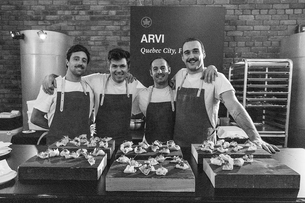 Arvi Restaurant team Air Canada Top 10
