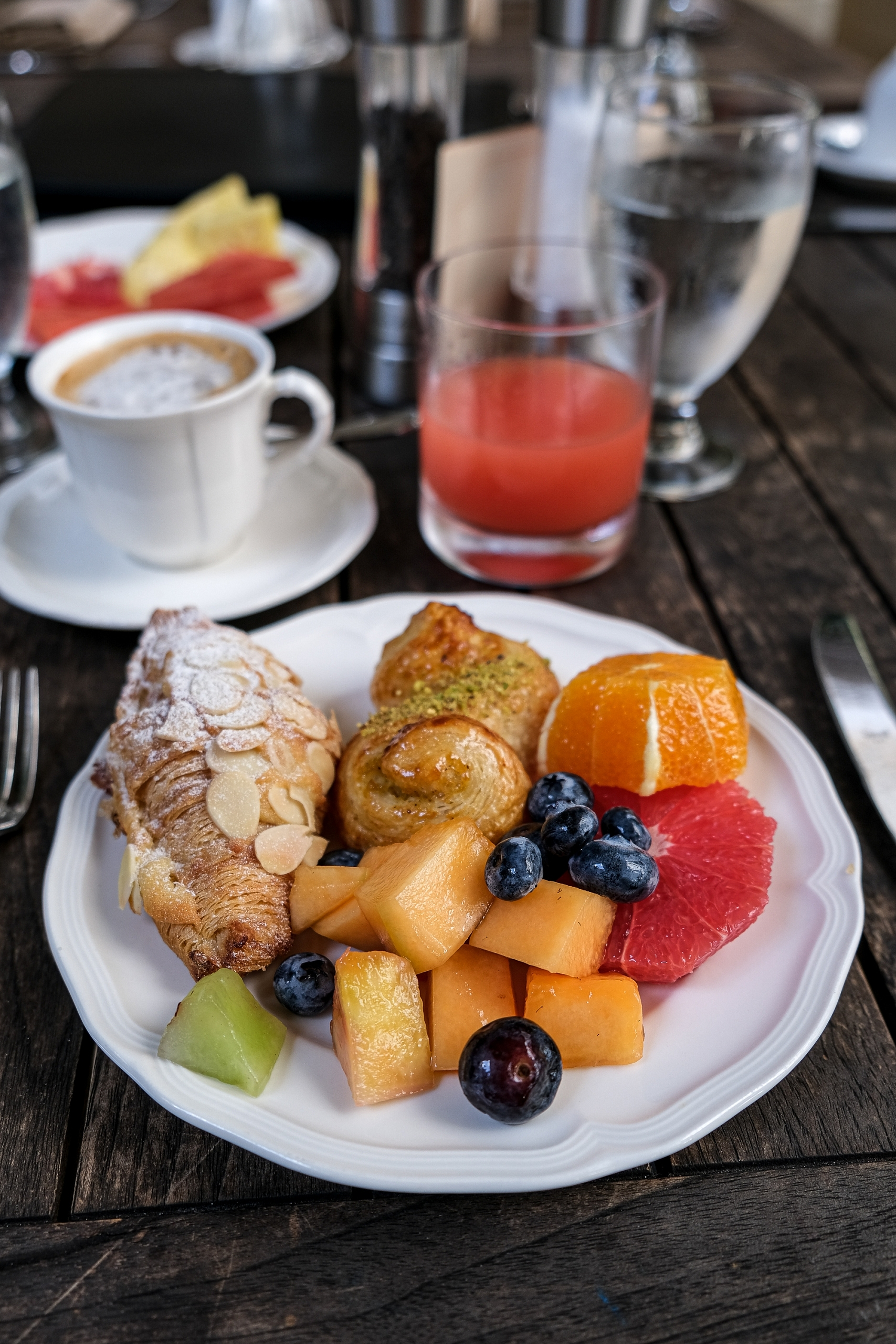 Rosewood Baha Mar Commonwealth Breakfast with Croissants and Fruit